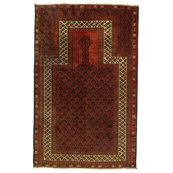 Afghan Baluch Hand-Knotted Wool Brown Area Rug by Pasargad NY