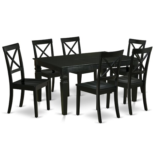 Fayston 7 Piece Extendable Solid Wood Dining Set by Winston Porter Winston Porter