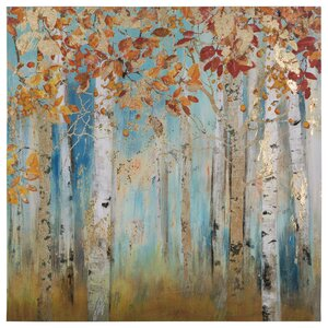 'Birch Beauties II' Painting Print on Wrapped Canvas by Andover Mills