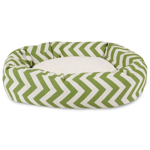 Chevron Sherpa Bagel Bolster Dog Bed by Majestic Pet Products