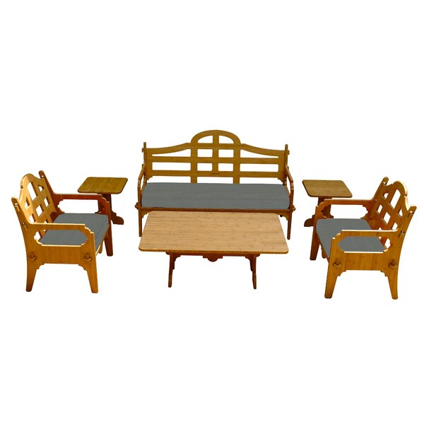 Burliegh 6 Piece Sunbrella Sofa Set with Cushions by Loon Peak