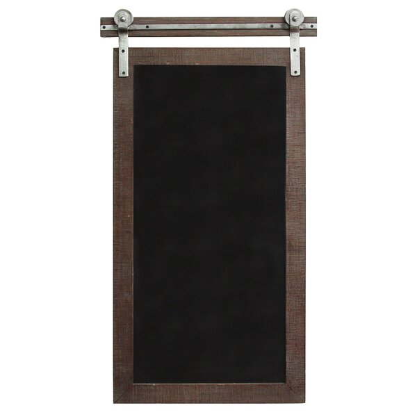 Farmhouse Wall Mounted Chalkboard, 31 x 17 by Stra