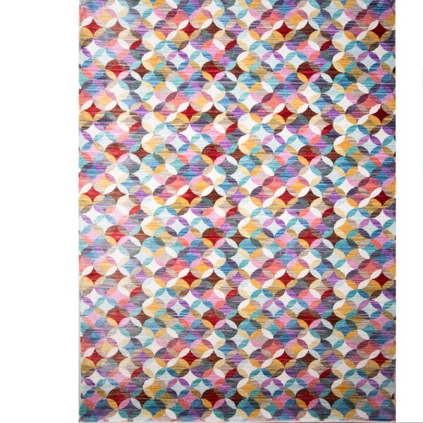 Marvine Purple/Blue/Red Area Rug by Wrought Studio