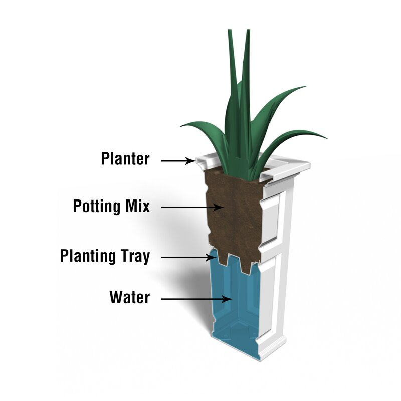 Mayne Inc Nantucket Self Watering Plastic Pot Planter Wayfair