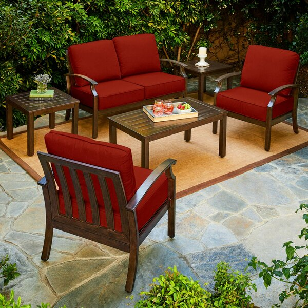 Yandel Bridgeport 6 Piece Conversation Set with Cushions by Darby Home Co