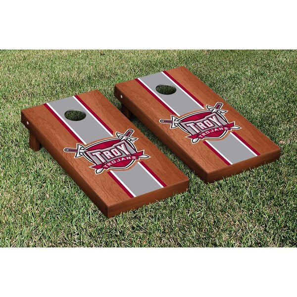 NCAA Stained Striped Wooden Cornhole Game Set by V