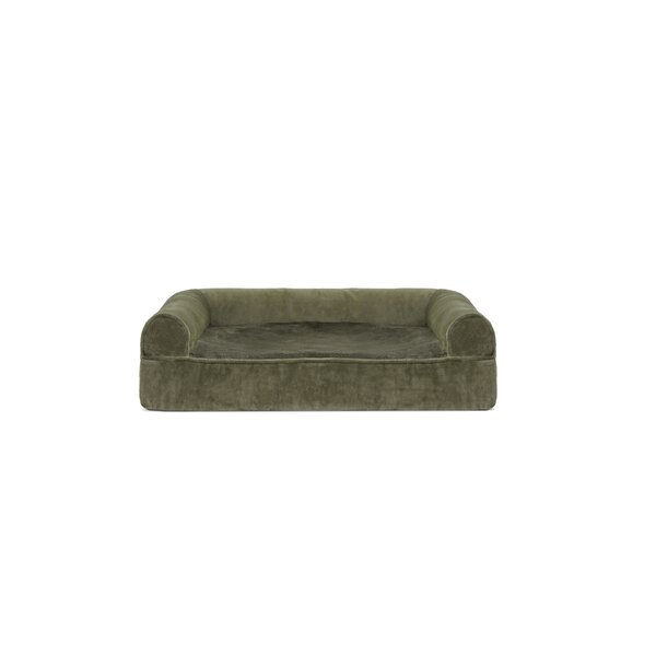 Asberry Faux Fur and Velvet Memory Top Dog Sofa by Tucker Murphy Pet