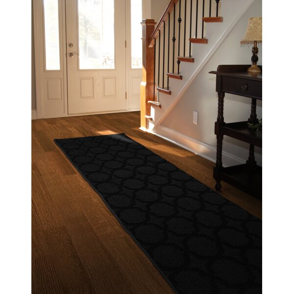 Southington Geometric Tufted Black Area Rug