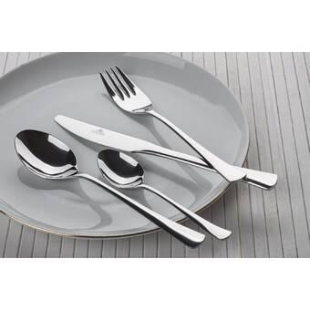 Melange Urbane 480 Piece 18 10 Stainless Steel Flatware Set Service For 96 Wayfair