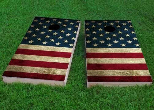 American Flag Cornhole Game (Set of 2) by Custom Cornhole Boards