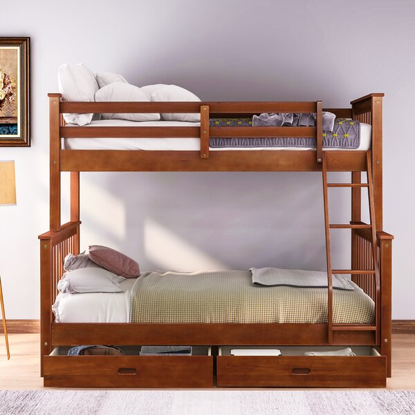 Vincenza Twin Over Full Bunk Bed by Red Barrel Studio