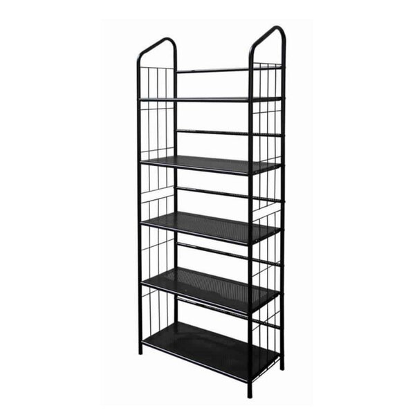 Caldwin Open Frame Metal Standard Bookcase By Latitude Run