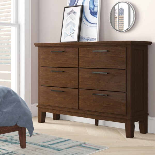 Hylan 6 Drawer Double Dresser by Brayden Studio
