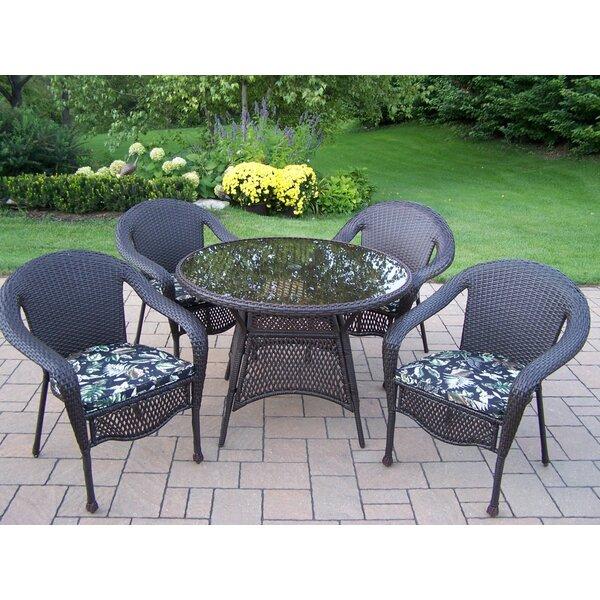 Balhi 5 Piece Dining Set with Cushions Bayou Breeze W000634237