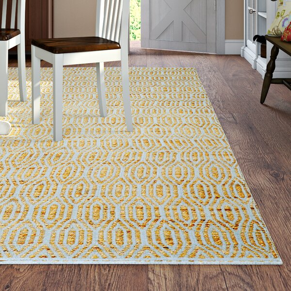 Zap Hand-Woven Silver/Natural Area Rug by August Grove