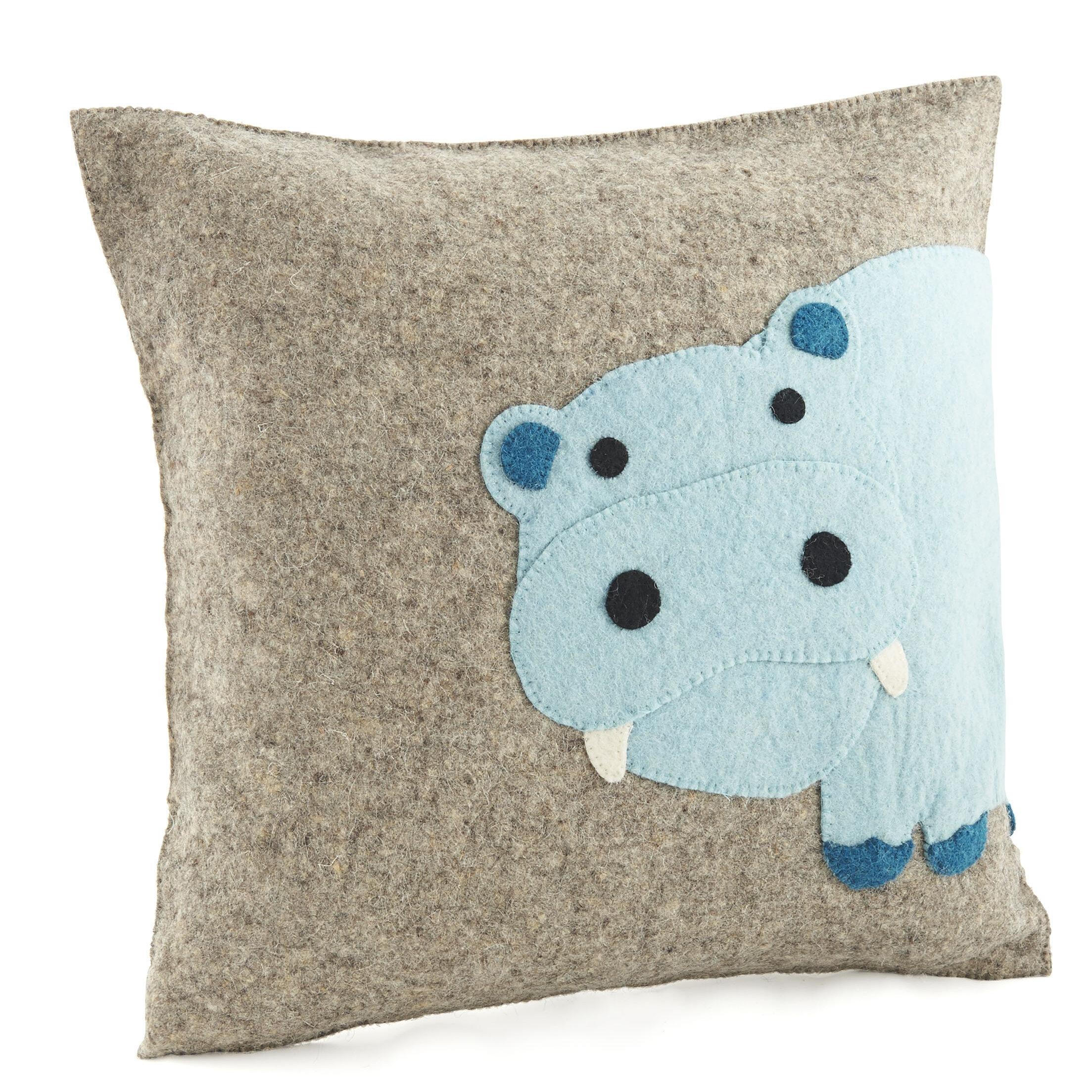 Arcadia Home Hippo Wool Pillow Cover | Wayfair