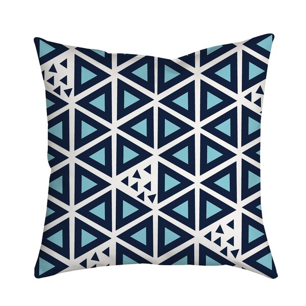 All Tri-Angles Geometric Indoor/Outdoor Throw Pillow by Positively Home