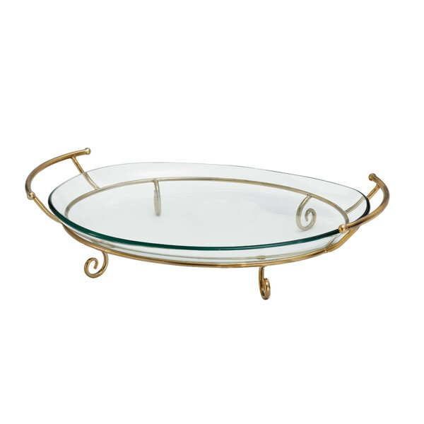Metal and Glass Serving Tray by Cole & Grey