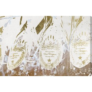 'Champagne Showers' Graphic Art on Wrapped Canvas by Willa Arlo Interiors