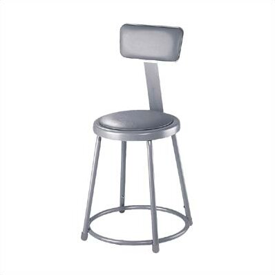 Stool with Adjustable Backrest by National Public Seating