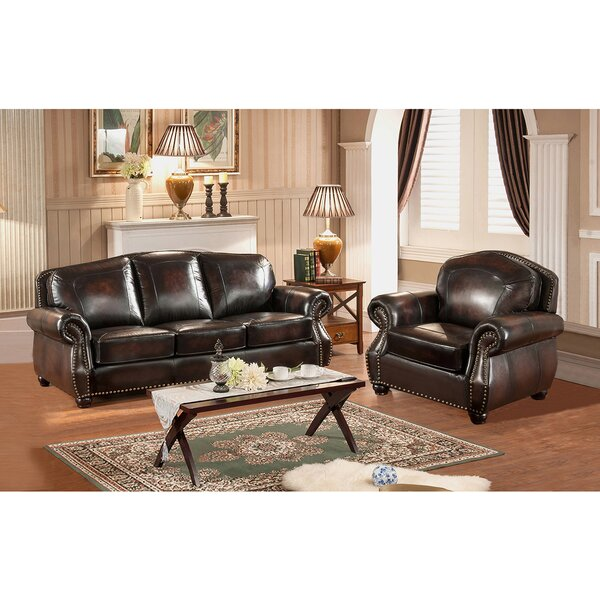 Vail 2 Piece Leather Living Room Set by Amax