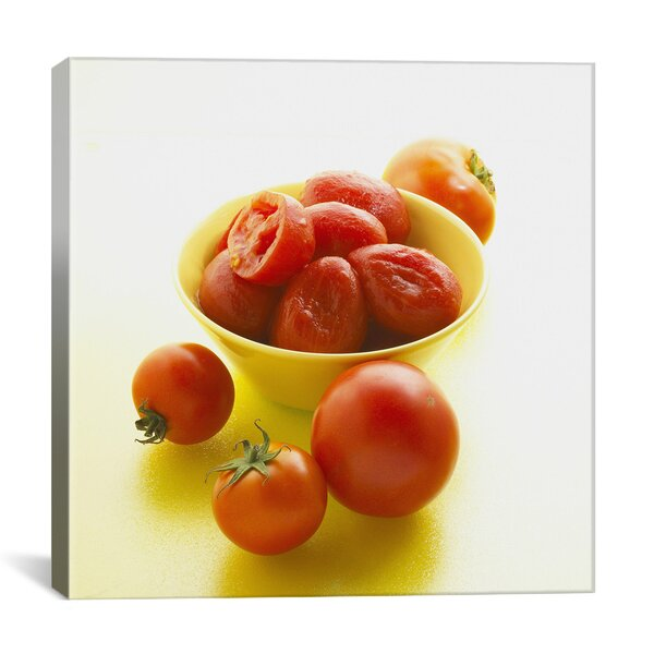 Food and Cuisine Tomatoes in Bowl Photographic Print on Canvas by iCanvas