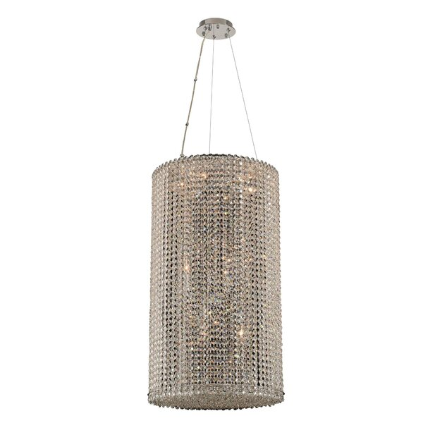 Kelsey 12-Light Unique / Statement Drum Chandelier by House of Hampton House of Hampton
