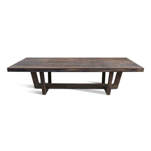 Zoey Solid Wood Dining Table by Loon Peak