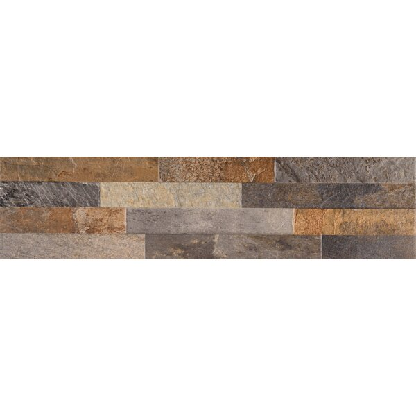 Rocky Ledger 6 x 24 Porcelain Field Tile in Gold by MSI