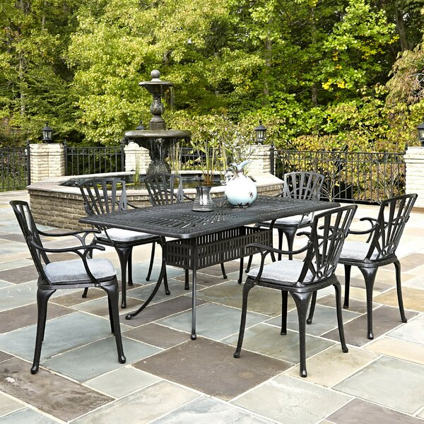 Frontenac 7 Piece Dining Set with Cushion by Astoria Grand