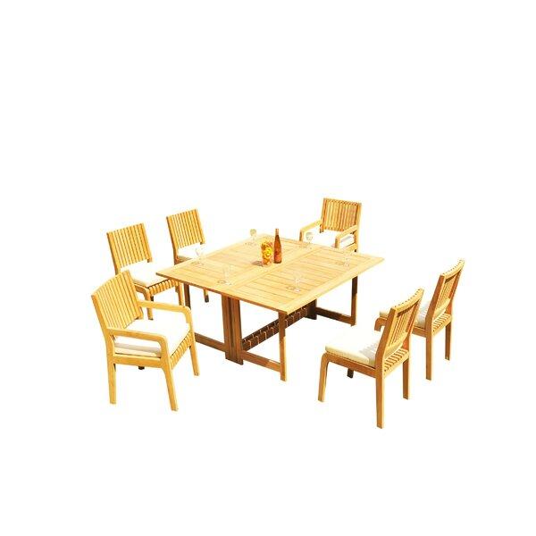 Mastin 7 Piece Teak Dining Set