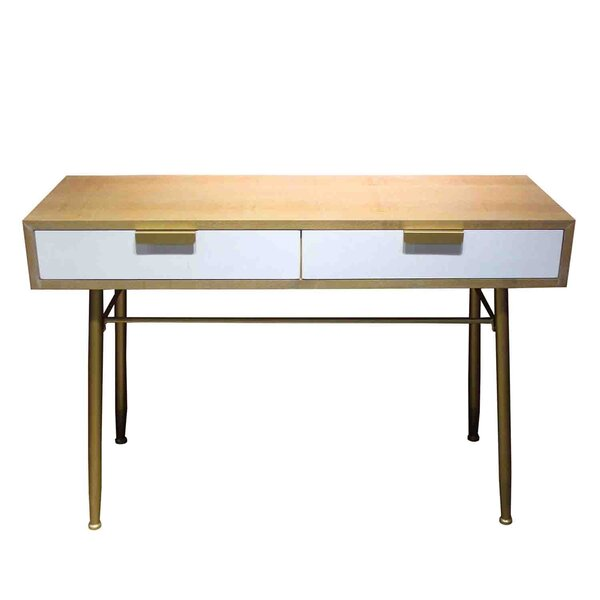 Keon Wooden 2 Drawer Console Table by George Oliver