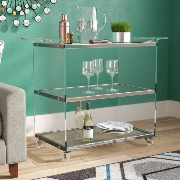Digennaro Acrylic Bar Cart By Orren Ellis Amazing