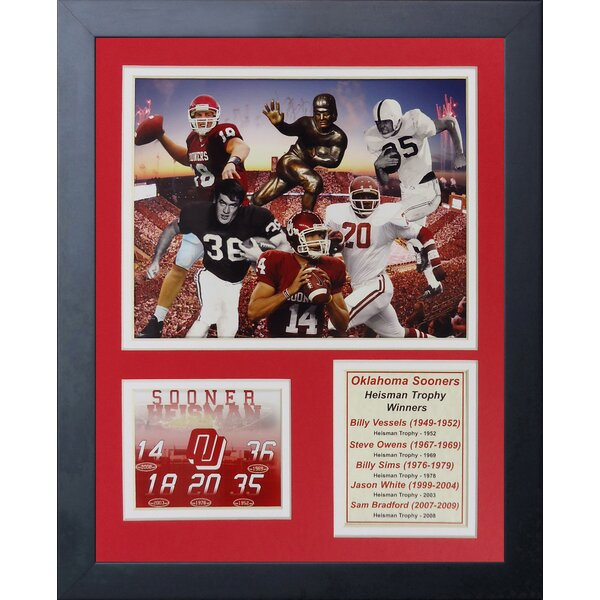 Oklahoma Sooners Heisman Trophy Winners Framed Photographic Print by Legends Never Die