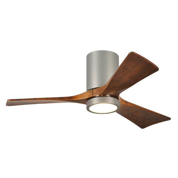 42 Trost 3 Blade Hugger Ceiling Fan with Wall Remote and Light Kit by Wade Logan