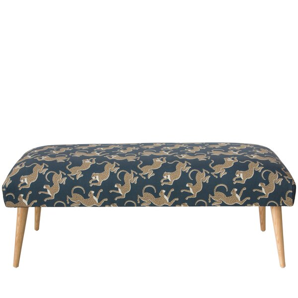 Addilynn Leopard Upholstered Bench by Bloomsbury Market