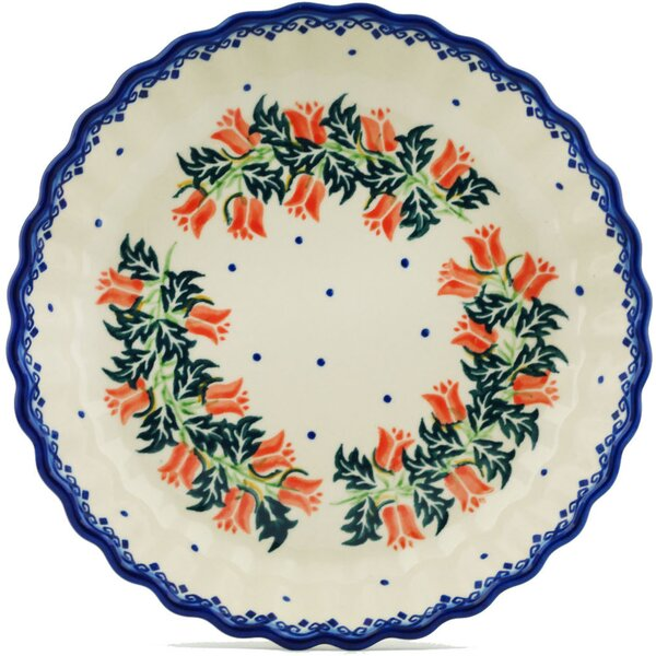 California Poppies Fluted Pie Dish by Polmedia