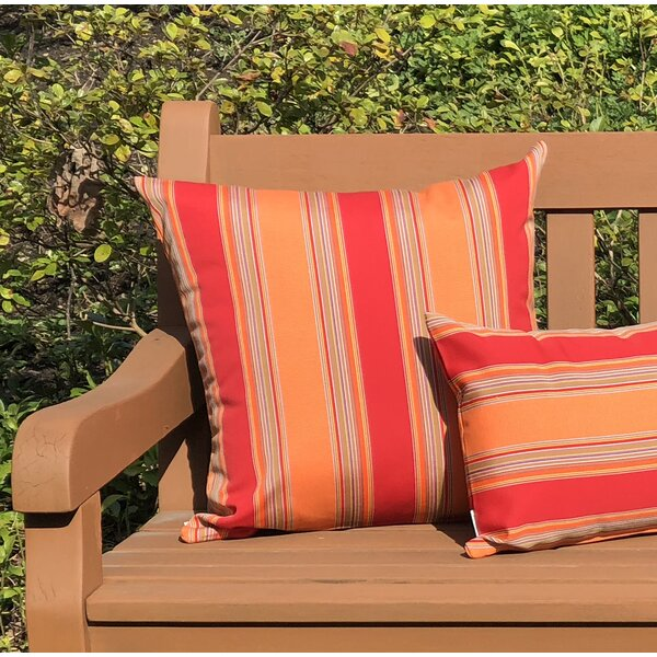 Osceola Salsa Outdoor Sunbrella Throw Pillow by Latitude Run