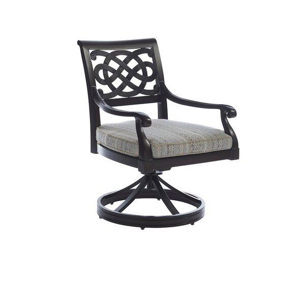Royal Kahala Sands Swivel Patio Dining Chair with Cushion