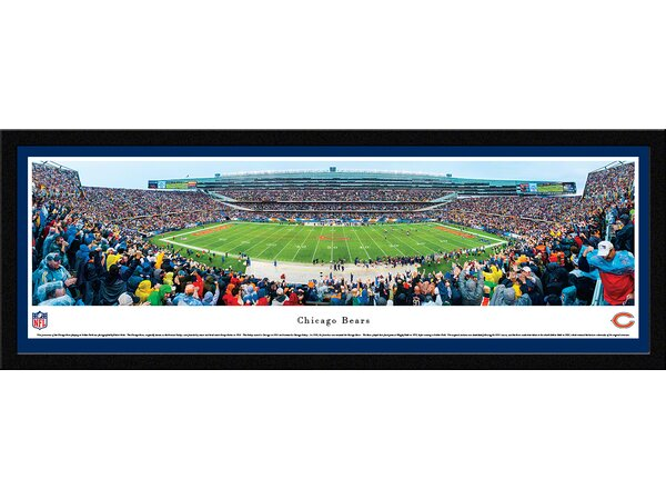 NFL Chicago Bears - 50 Yard Line by Robert Pettit Framed Photographic Print by Blakeway Worldwide Panoramas, Inc