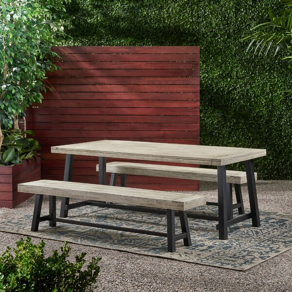 Naomi Outdoor Picnic 3 Piece Dining Set by Longshore Tides