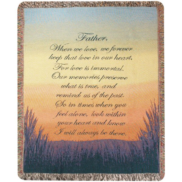Forever a Father Tapestry Cotton Throw by Manual Woodworkers & Weavers