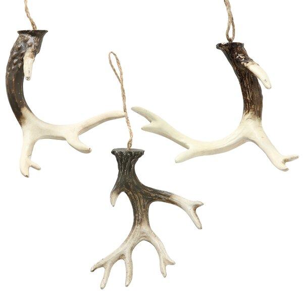 3 Piece Sanibel Antler Ornaments Sculpture Set by Millwood Pines