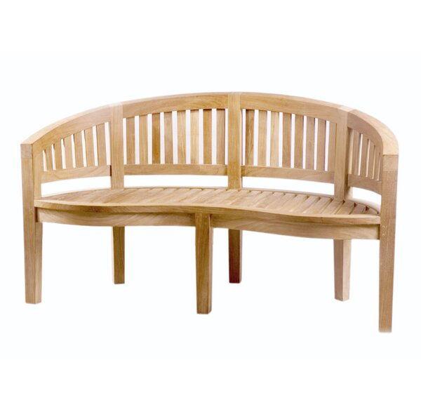 Island Teak Wood Garden Bench by D-Art Collection