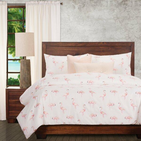 Flamboyance Emroidered Flamingo Duvet Cover & Insert Set