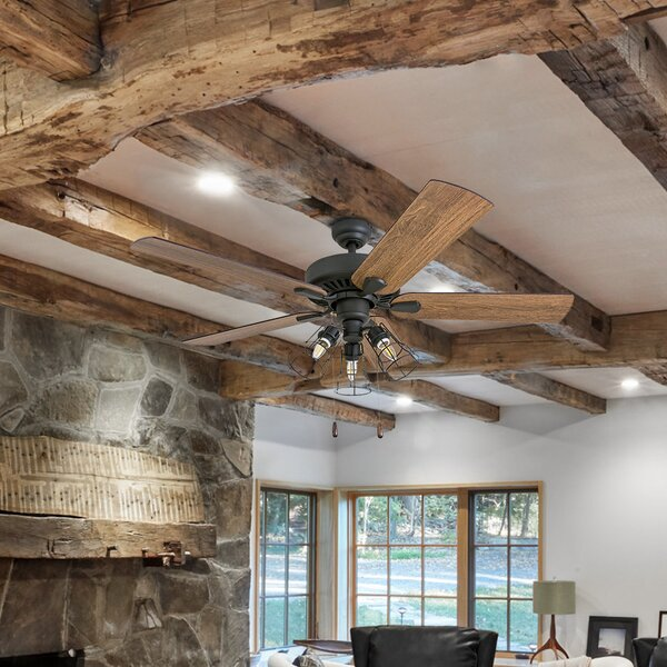 52 Pante Macassar 5 Blade LED Ceiling Fan by Union Rustic