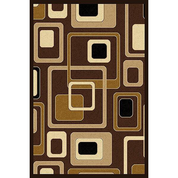 Cosper Brown/Beige Area Rug by Ebern Designs