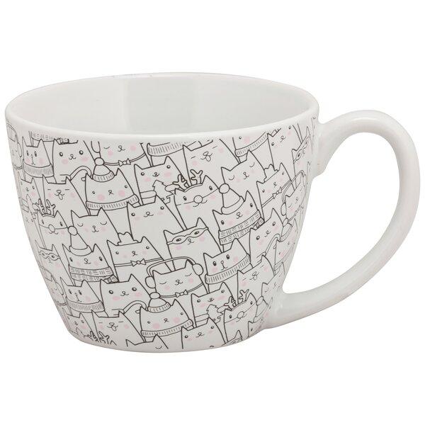 Aren Cat Face Teacup by Ebern Designs