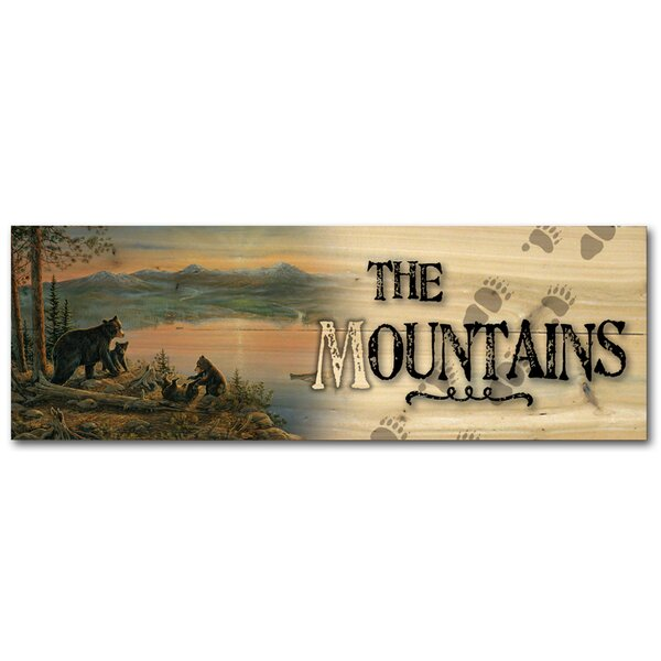 The Mountains Serenity at Twilight Graphic Art Plaque by WGI-GALLERY