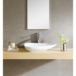 Best Choices Modern Ceramic Specialty Vessel Bathroom Sink By Fine Fixtures
